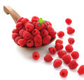 Fresh raspberries isolated on white background Stock Images