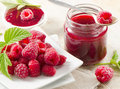 Fresh raspberries . Royalty Free Stock Photo