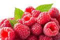 Fresh raspberries macro. Background Royalty Free Stock Photo