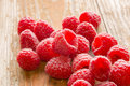 Fresh Raspberries On A Rustic Background Royalty Free Stock Photo