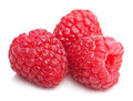 Fresh raspberry isolated on white raspberries Royalty Free Stock Photo