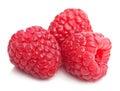 Fresh raspberry isolated on white raspberries Royalty Free Stock Photo