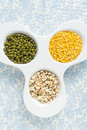 Fresh raw Assorted grains Royalty Free Stock Images