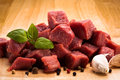 Fresh raw beef meat and vegetables Stock Photography