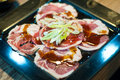 Fresh raw beef sliced Royalty Free Stock Photos