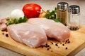 Fresh raw chicken breasts Stock Photos