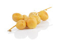 Fresh raw dates with branch Royalty Free Stock Photo