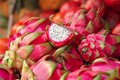 Fresh raw dragon fruit Royalty Free Stock Image