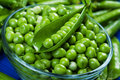 Fresh raw green peas Stock Photo