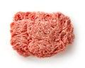 Fresh raw ground pork heap Royalty Free Stock Photo