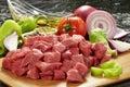 Fresh raw meat on cutting board