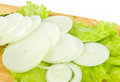 Fresh raw onion slices Royalty Free Stock Images