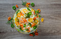 Fresh raw Vegetable mixed salad Royalty Free Stock Photo