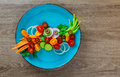 Fresh raw Vegetable mixed salad Royalty Free Stock Photo