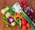 Fresh Raw Vegetables Royalty Free Stock Images