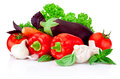 Fresh raw vegetables isolated on white background Royalty Free Stock Photo