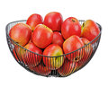Fresh red apples isolated on white background closeup Royalty Free Stock Photo