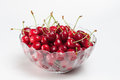 Fresh red cherries Royalty Free Stock Images