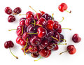Fresh red cherries on white background Stock Photography