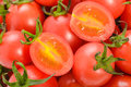 Fresh red cherry tomatoes food background of Stock Images