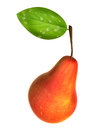Fresh red color pear foods and dishes series Royalty Free Stock Photos
