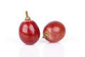 Fresh red grape isolated on white Royalty Free Stock Photo