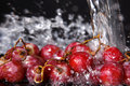 Fresh red grape under water Royalty Free Stock Photo