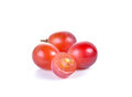 Fresh red grape on white Royalty Free Stock Photo