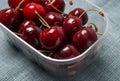 Fresh red organic Cherry, cherries Royalty Free Stock Photo