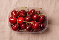 Fresh red organic Cherry, cherries Royalty Free Stock Photo