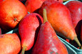 Fresh Red Pears at farmers market Royalty Free Stock Photo