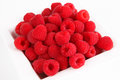 Fresh red raspberries Royalty Free Stock Photo