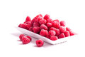 Fresh red raspberry isolated on white background Royalty Free Stock Photo