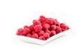 Fresh red raspberry isolated on white background Stock Photo