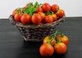 Fresh red ripe salad tomatoes Royalty Free Stock Photo