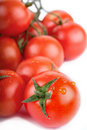 Fresh red tomato isolated Stock Images