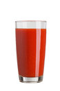 fresh red tomato juice in a glass isolated on white background Royalty Free Stock Photo