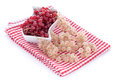 Fresh red and white currants Royalty Free Stock Photo