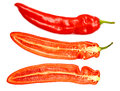 Fresh ripe appetizing sweet red dissected pepper Royalty Free Stock Photo