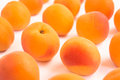Fresh Ripe Apricots - Close Up - White Background Royalty Free Stock Photo