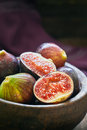 Fresh ripe black figs Royalty Free Stock Photo