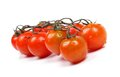 Fresh ripe cherry tomatoes isolated on white Royalty Free Stock Photo