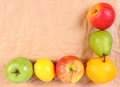 Fresh ripe fruits, healthy lifestyles, copy space for text Royalty Free Stock Photo