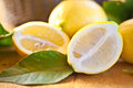 Fresh ripe lemons Royalty Free Stock Image