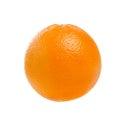 Fresh ripe orange fruit isolated on white background with clippi Royalty Free Stock Photo