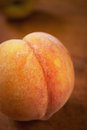 Fresh ripe peach close-up Royalty Free Stock Photo