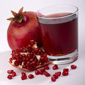 Fresh ripe pomegranate Stock Images