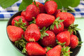 Fresh ripe red strawberries Royalty Free Stock Photo