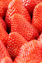 Fresh ripe red strawberries closeup background Royalty Free Stock Photos