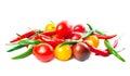 Fresh ripe red, yellow, black cherry tomatoes Royalty Free Stock Photo